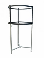 double layer round clothes display rack for supermarket or clothes discount store