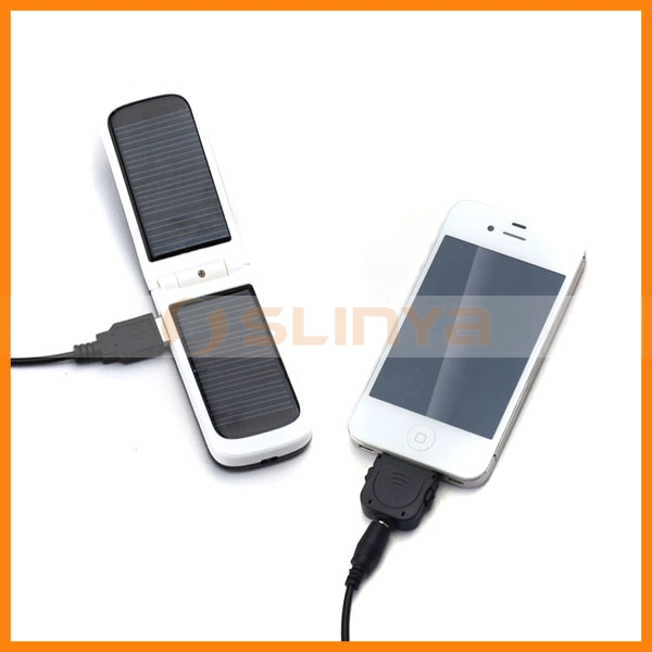 1000mah High Quality Power Bank Solar Foldable External Battery Charger for iPhone