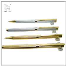 Best price of Promotion heavy white metal ball pen