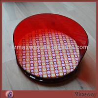 Wholesale Comfortable High Quality Lovely/Funny Round Red Acrylic Pet Bed/Dog Bed/Cat Bed