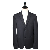 customized China manufacturer Western Style standard flat collar Royal black blazer mens blazer casual suit
