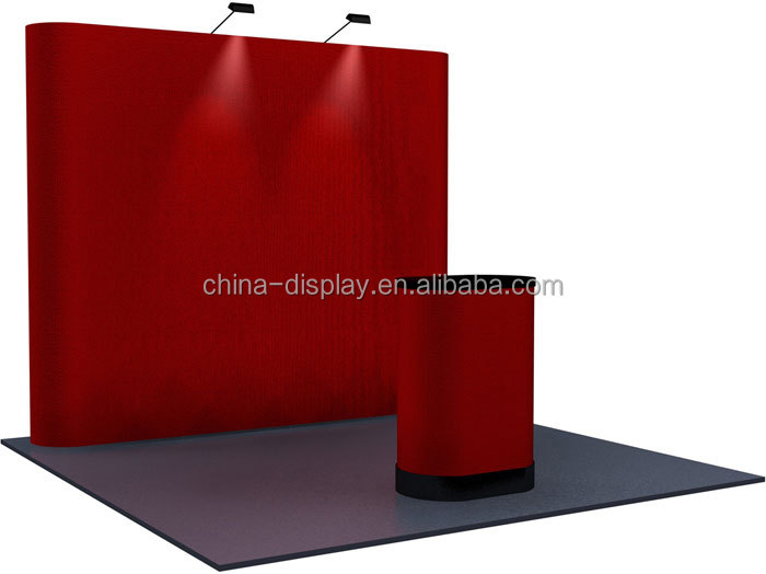 3x3 Straight exhibition booth Magnetic Pop Up Display