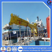 API 2C design china supplier good quality marine pedestal crane with ABS CCS certificate
