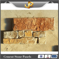 Gold slate stack cultured stone veneer lowes
