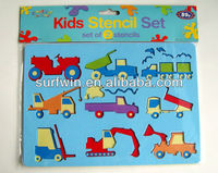 Kids stencil sets,plastic drawing stencils