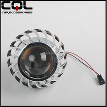 CQL 2.5inch Bo-sch H1 H7 Hid Bi Xenon Projector Lens Without Led Angel Eyes Ring Headlight Shroud