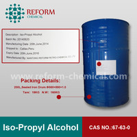 Isopropyl alcohol 99.8% CAS NO.67-63-0