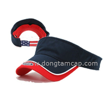 Best quality Sport Visor caps 100% brushed cotton