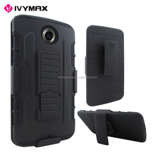 4 Styles future armor hybrid case military 3 in 1 combo cover for Motorola NEXUS 6