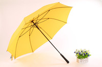 PU leather handle dome folding umbrella with golf club handle