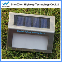 1.2V/600mAh capacity monocrystalline silicon solar panel lights stair light mounted wall