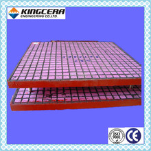Wear resistant 95% alumina ceramic plate with steel panel
