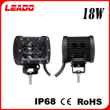 LEADO waterproof IP 68 12V DC 18W led work light for truck motorcycle