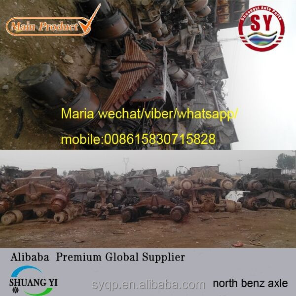 used china north Benz Truck back Axle Bogie and Diff