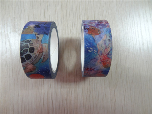 DIY free sample water color custom print japanese paper washi decoration tape craft box for decoration and packaging
