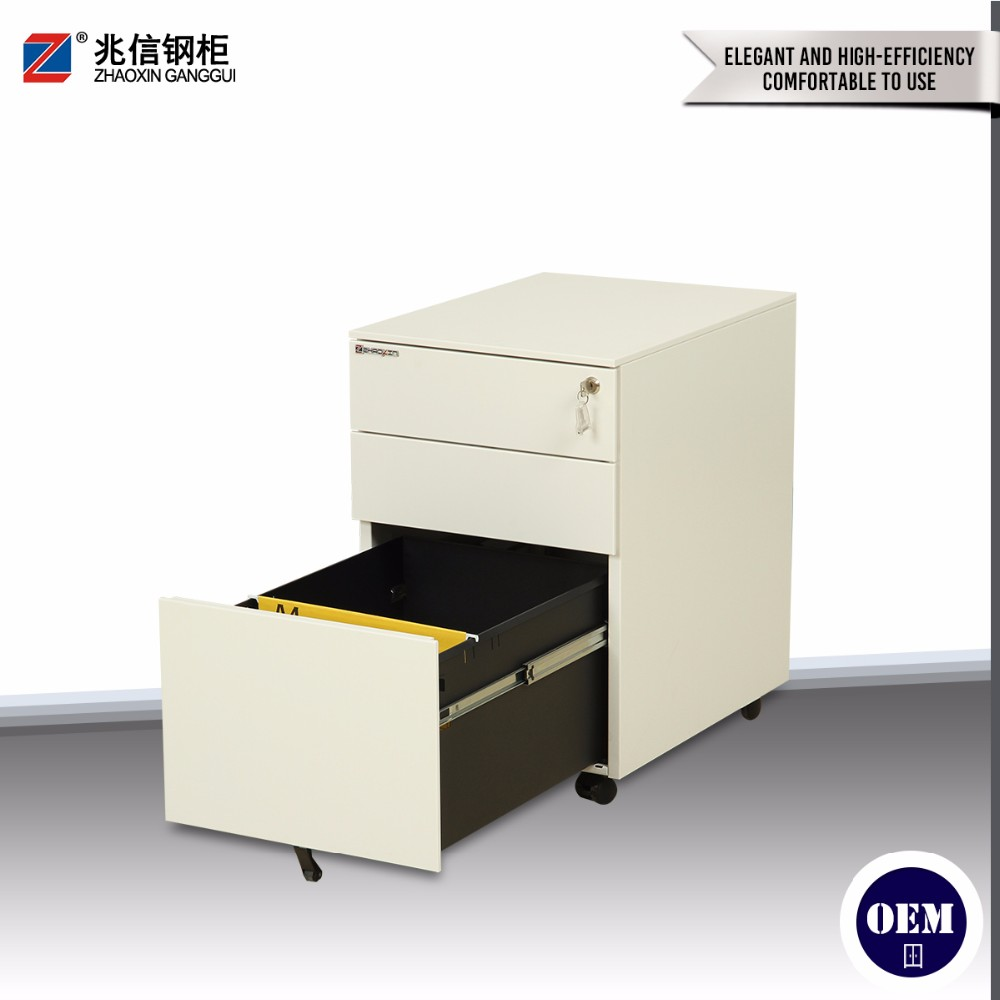 Luoyang office furniture under desk lockable roller mobile cheap steel file cabinets on wheels