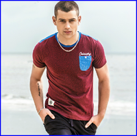 British style custom embroidery short sleeve fancy men's t shirt wholesale