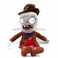 Plants Vs Zombies Plush Toy Cowboy Zombie/china plush toy factory/stuffed plush toy for kids