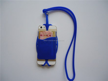 Easy clean silicone phone neck lanyard case for iphone 4/ 5 /6 S
