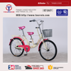 22 inch steel band brake single speed double seat bicycle for two riders city bike