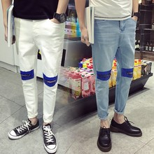 Wholesale Los Angeles Thin Fabric Men Vivid Torn Ripped Jeans Aliexpress
