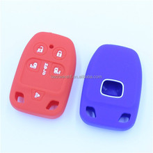silicone remote fob keys bags 5 buttons with 3 hole silicone car key case for honda