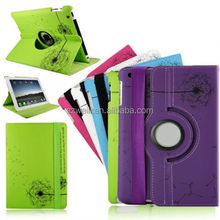 New 360 Rotating PU Leather Case Smart Cover Stand Dandelion For iPad mini mini2