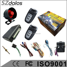 Prestige/octopus one way car alarm system with anti-hijack functions, 2pcs remote one way car alarm with cheapest price