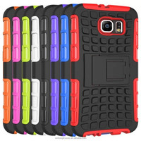 High Quality 2 in 1 PC + TPU Heavy Duty Shockproof Case Cover For Samsung S6