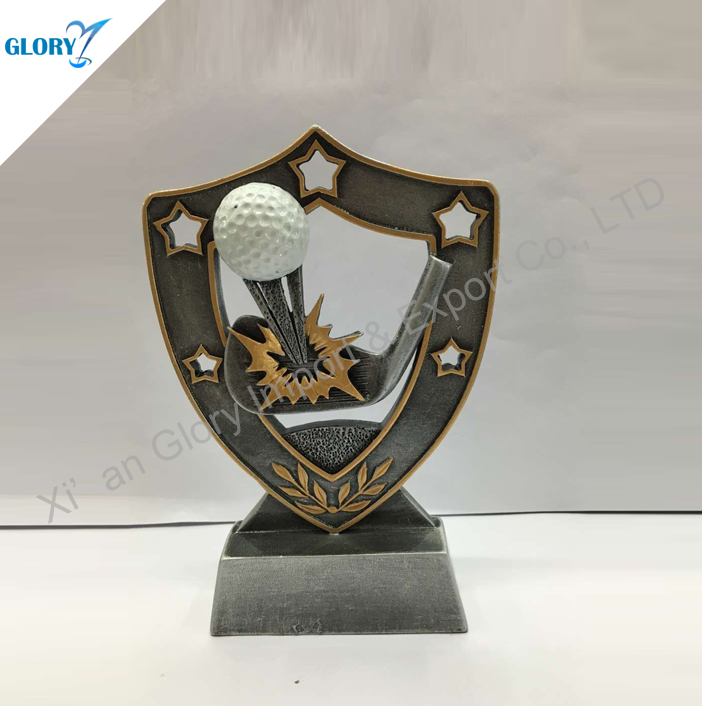 Funny Golf Trophies Resin for Club Souvenir