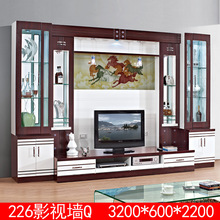 Modern led light design tv cabinet with showcase