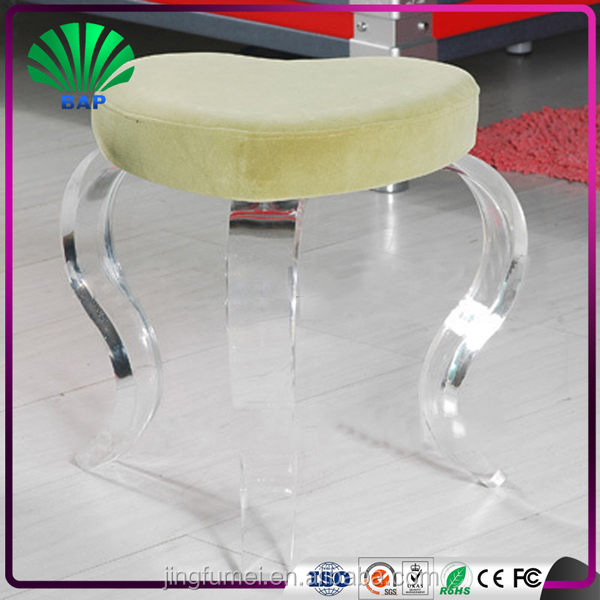 Creative Living room Beauty Transparent Round 3 legged Stool