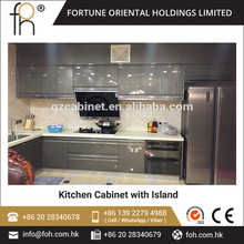 New Design Stainless Steel Modular Kitchen Cabinet Commercial Kitchen Project(FOH-MKC1314)