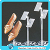 Free standing plexiglass shoe display stand with base, plexiglass women's shoe display