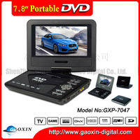 cheap portable dvd palyer 7 inch with tft screen in stock