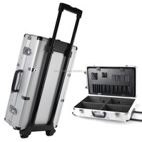 trolley kit equipment display box Aluminum luggage storage box