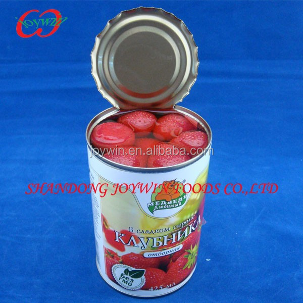 Cheap price canned fruit distributor, canned strawberry in light syrup