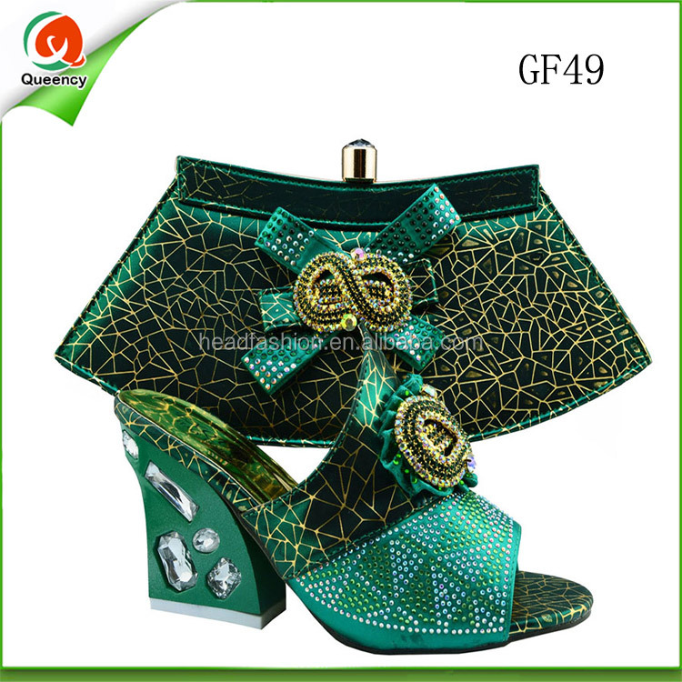Mint green italian shoe and bag set to match medium heel - Colors that match mint green ...