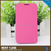 High quality flip leather case for lenovo a850