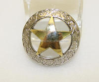 wholesale round shape with star western concho for fashion belt