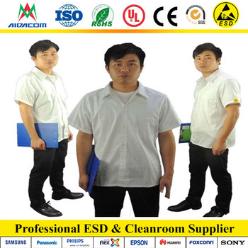 Smock Factory,5mm grid Poly/cotton ESD antistatic smock