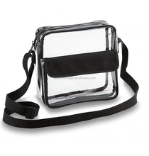 BeeGreen Clear Crossbody pvc messenger bag with front pocket