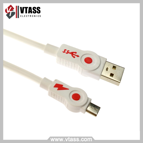 Mobile Phone accesorry TPE retractable usb cable for cell phone