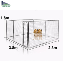 Large Removable Hot-dipped galvanized dog kennel cage 3.8