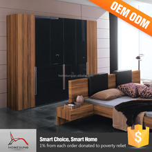 Cheap Wholesale Furniture Sample Simple Designs 2 Door Wardrobe With Mirror