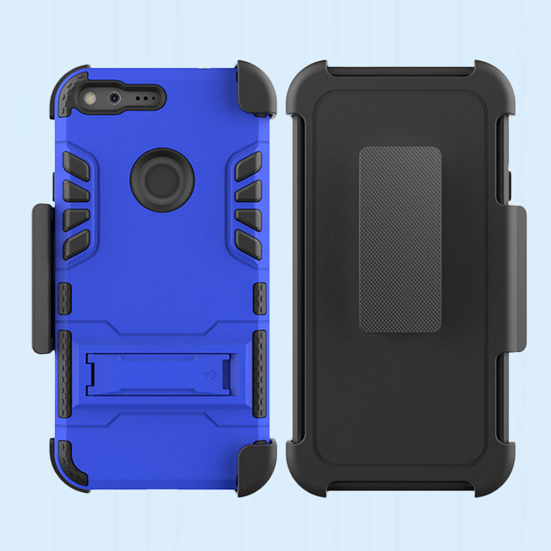 Shockproof 2 in 1 tpu pc armor case for google nexus 6p / pixel hybrid cover ,for Google Pixel W2100 hard back cover
