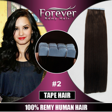 Wholesale cheap double drawn 100% virgin indian human kinky curly temple hair 30 inch remy import tape hair extension