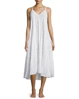 OEM Cheap Long Adjustable Hot Mature Sexy Ladies White Embroidered Cotton High-Low Sleeping Night Dress Wear
