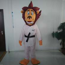 2017 factory directly sale custom made karate lion mascot costume