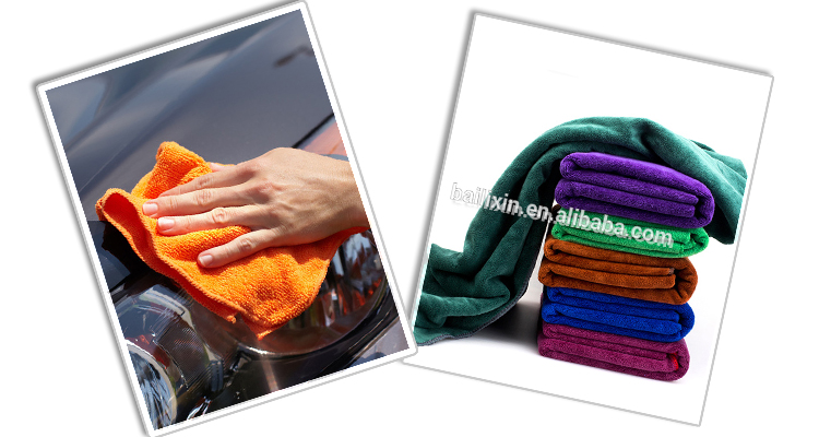 Best selling high quality solid color microfiber car cleaning towel